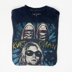 Spencers Kurt Cobain Black crewneck graphic band t